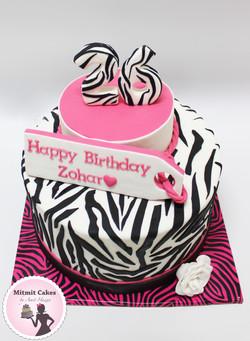 עוגה זברה