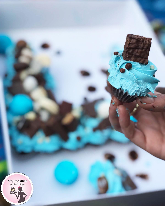עוגת יום הולדת חתוכה מראש