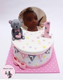 עוגה תמונה ודובי גיל שנה