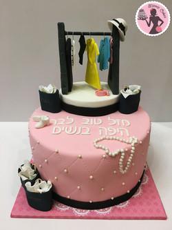 עוגה עם פיסול בגדים