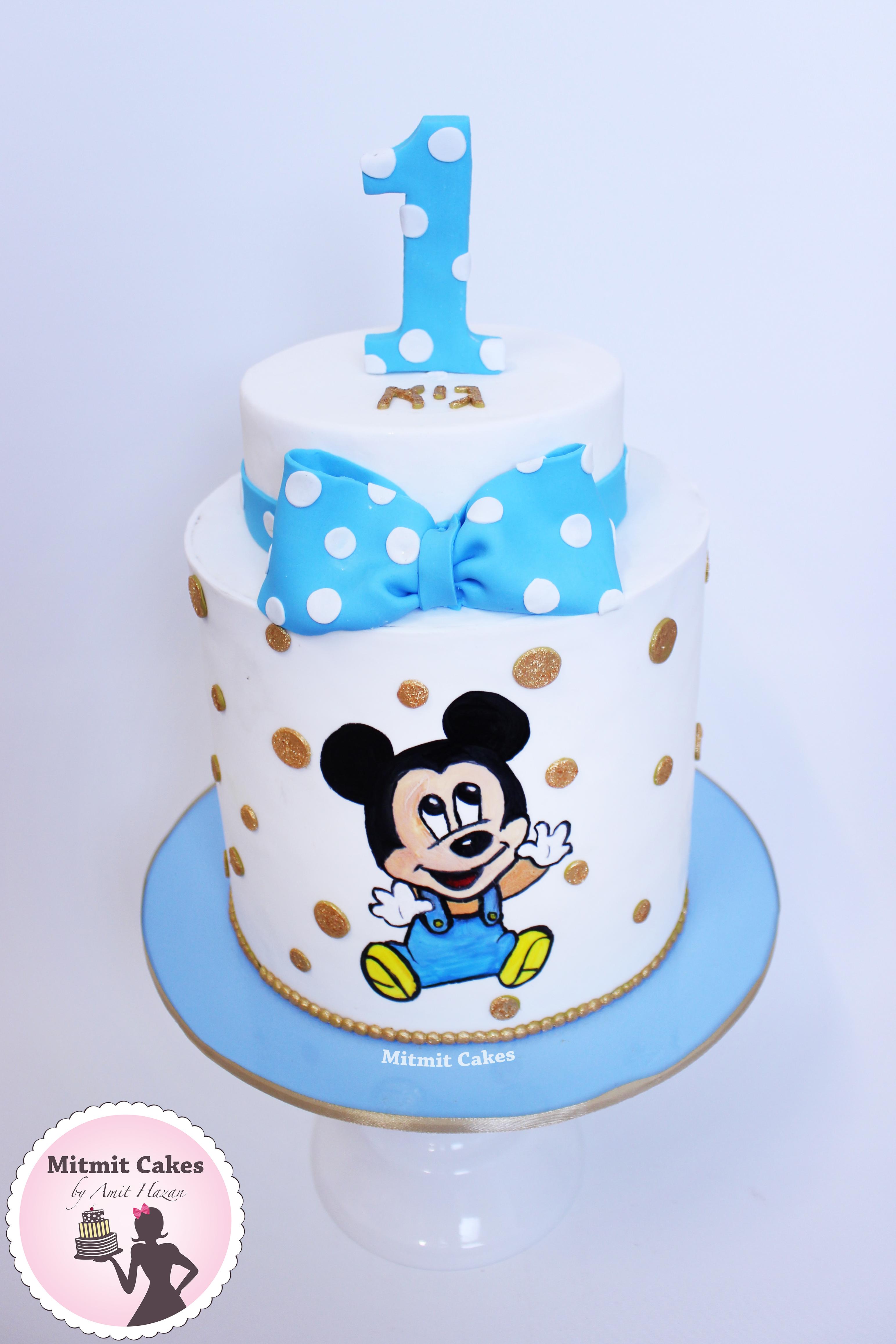 עוגה בייבי מיקי מאוס