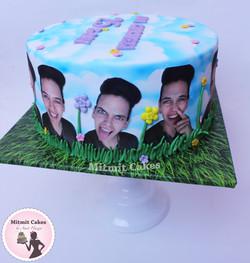 עוגה עם תמונות