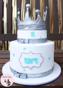 עוגת כתר גיל שנה לתינוק