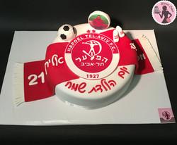 עוגת כדורגל הפועל תל אביב