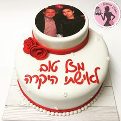 עוגת יום הולדת עם תמונה