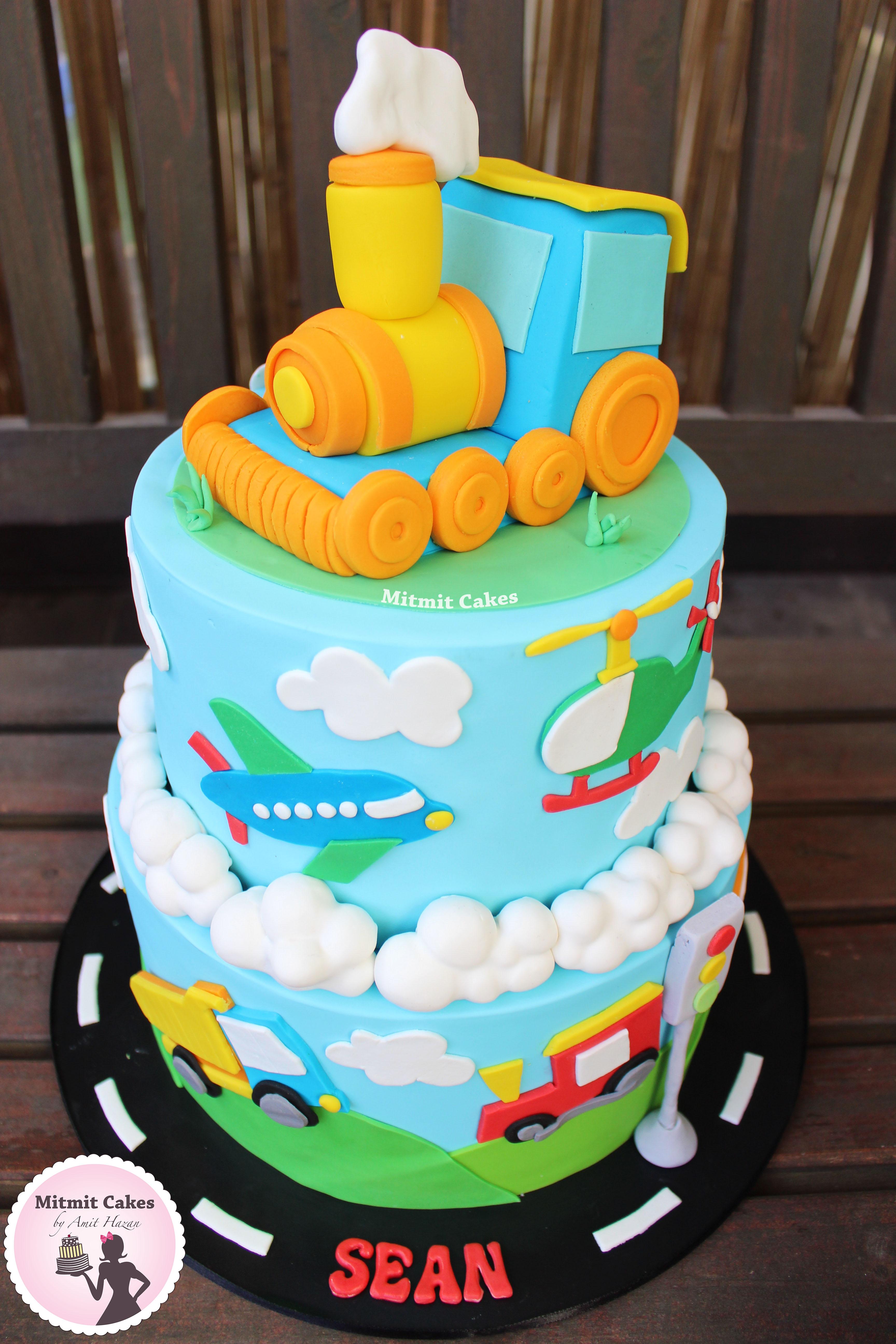 עוגה מכוניות ומטוסים