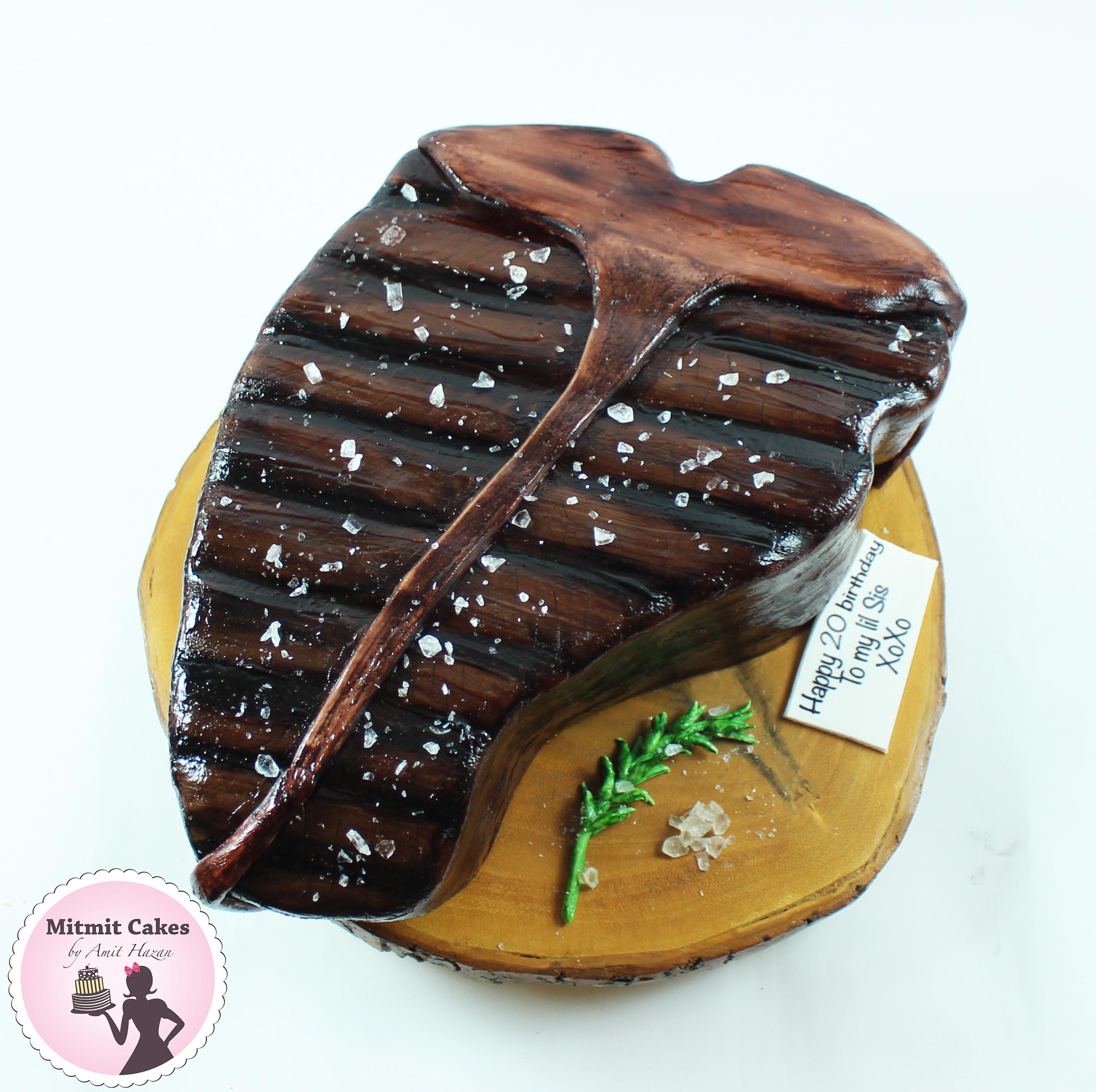 עוגה בצורת סטייק