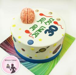 עוגה לחוקר מוח לגיל 30