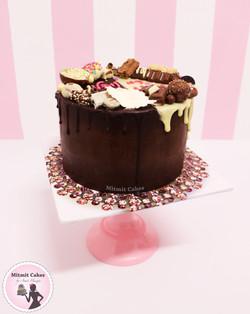 עוגת שוקולד מושחטת