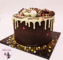 עוגה עם שוקולדים