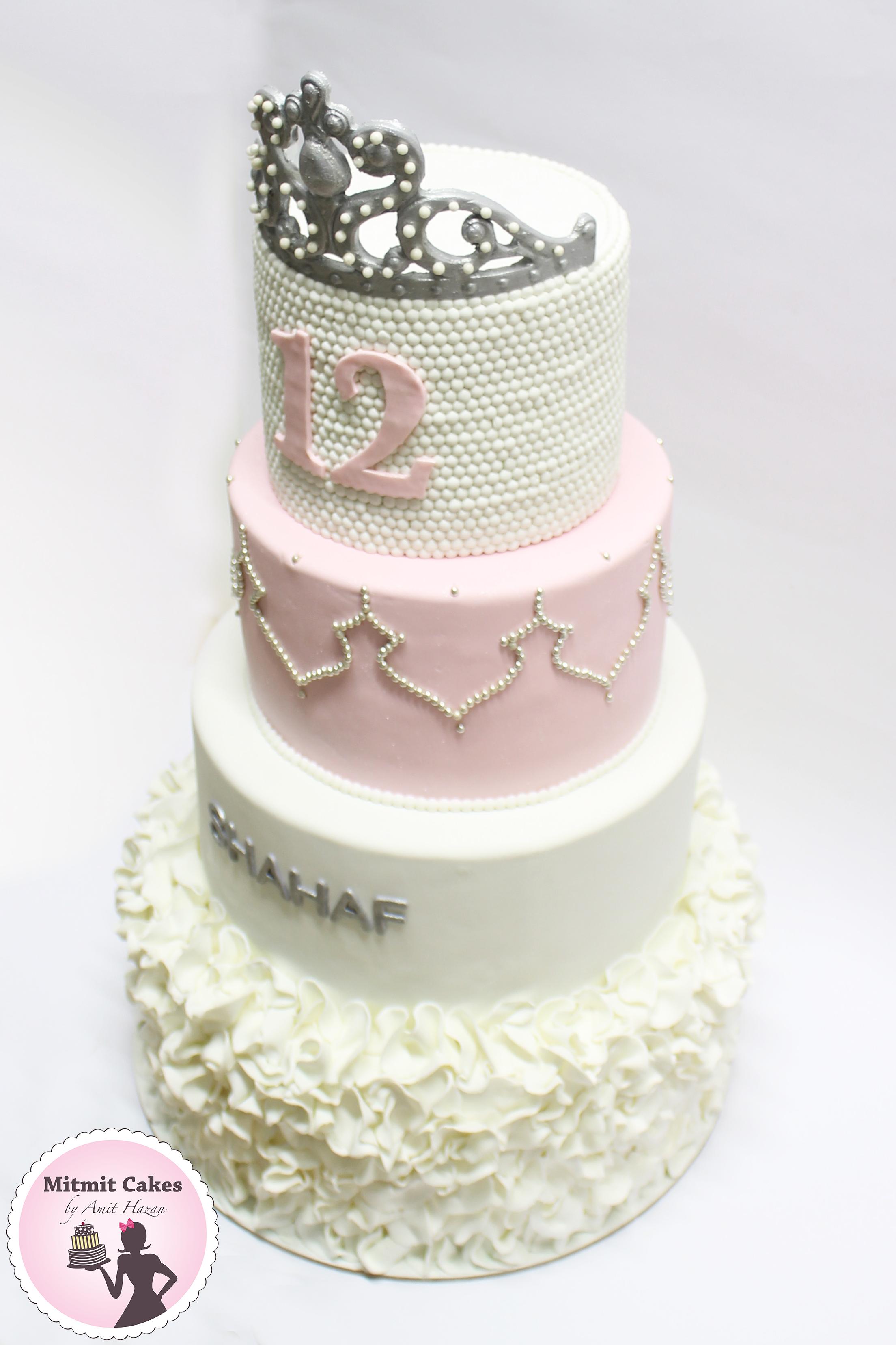 עוגת בת מצווה 4 קומות