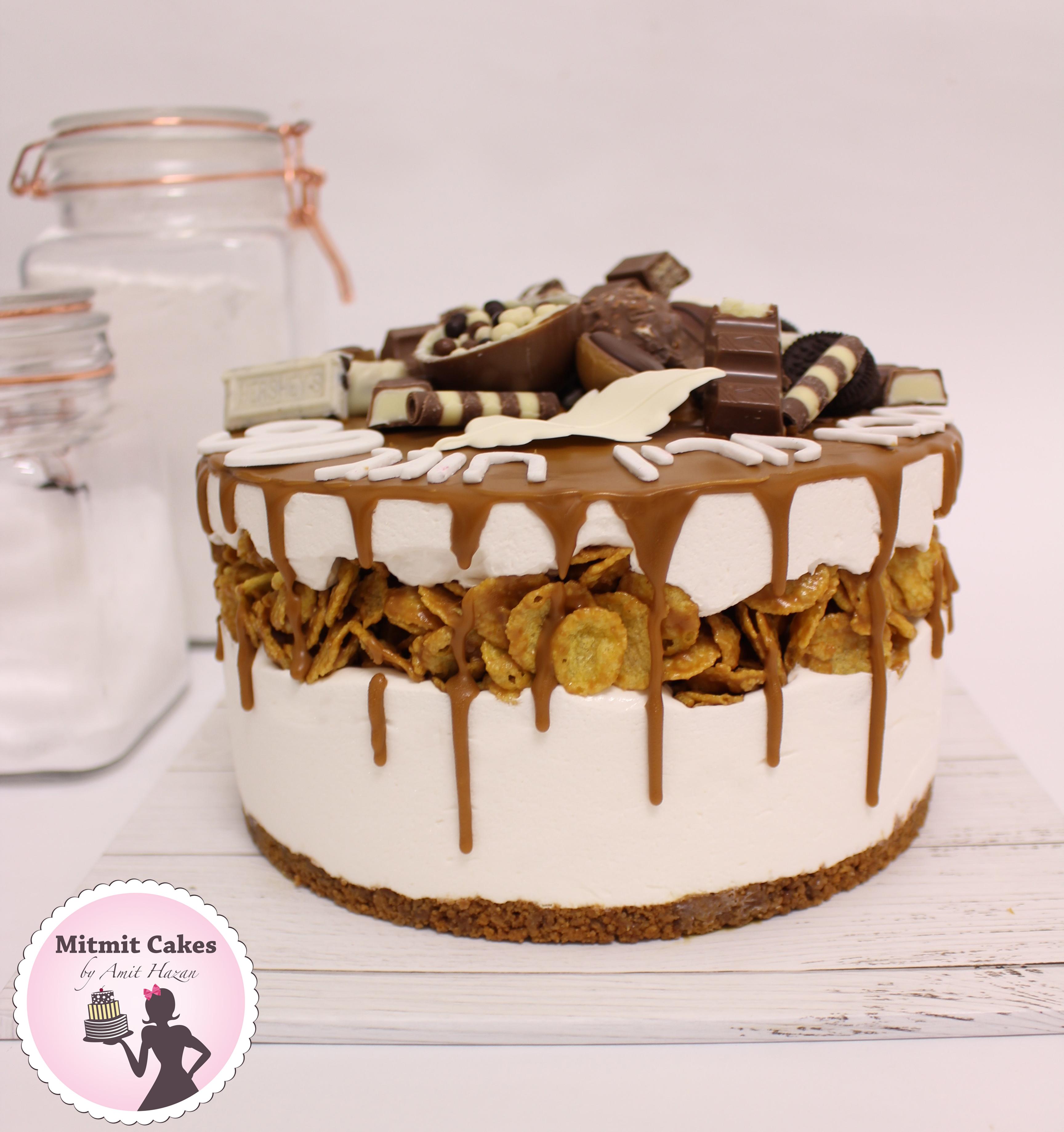 עוגת מוס שוקולד לבן ולוטוס
