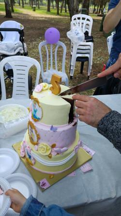 חיתוך עוגת נסיכות
