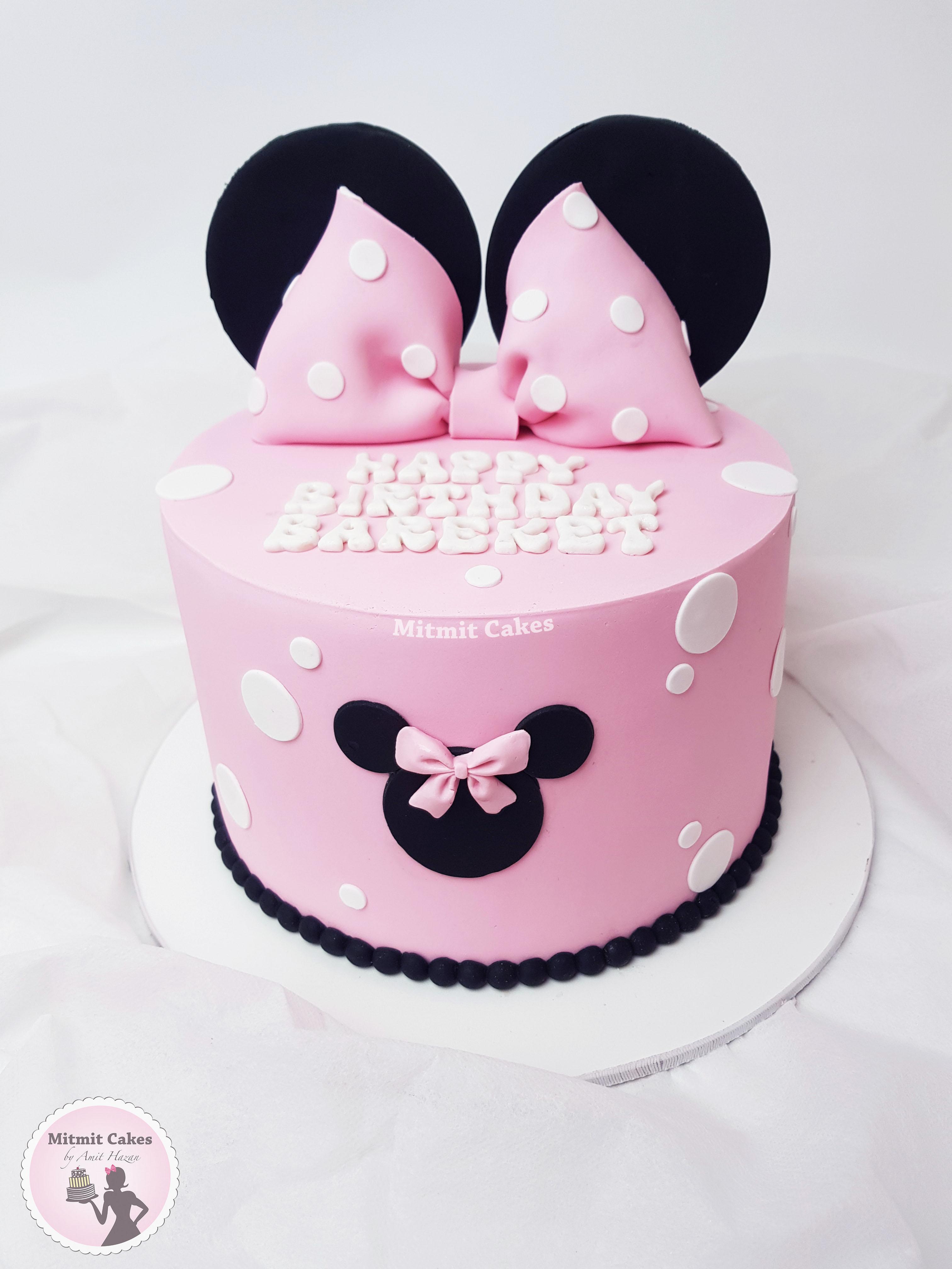 עוגה אוזניים מיני מאוס