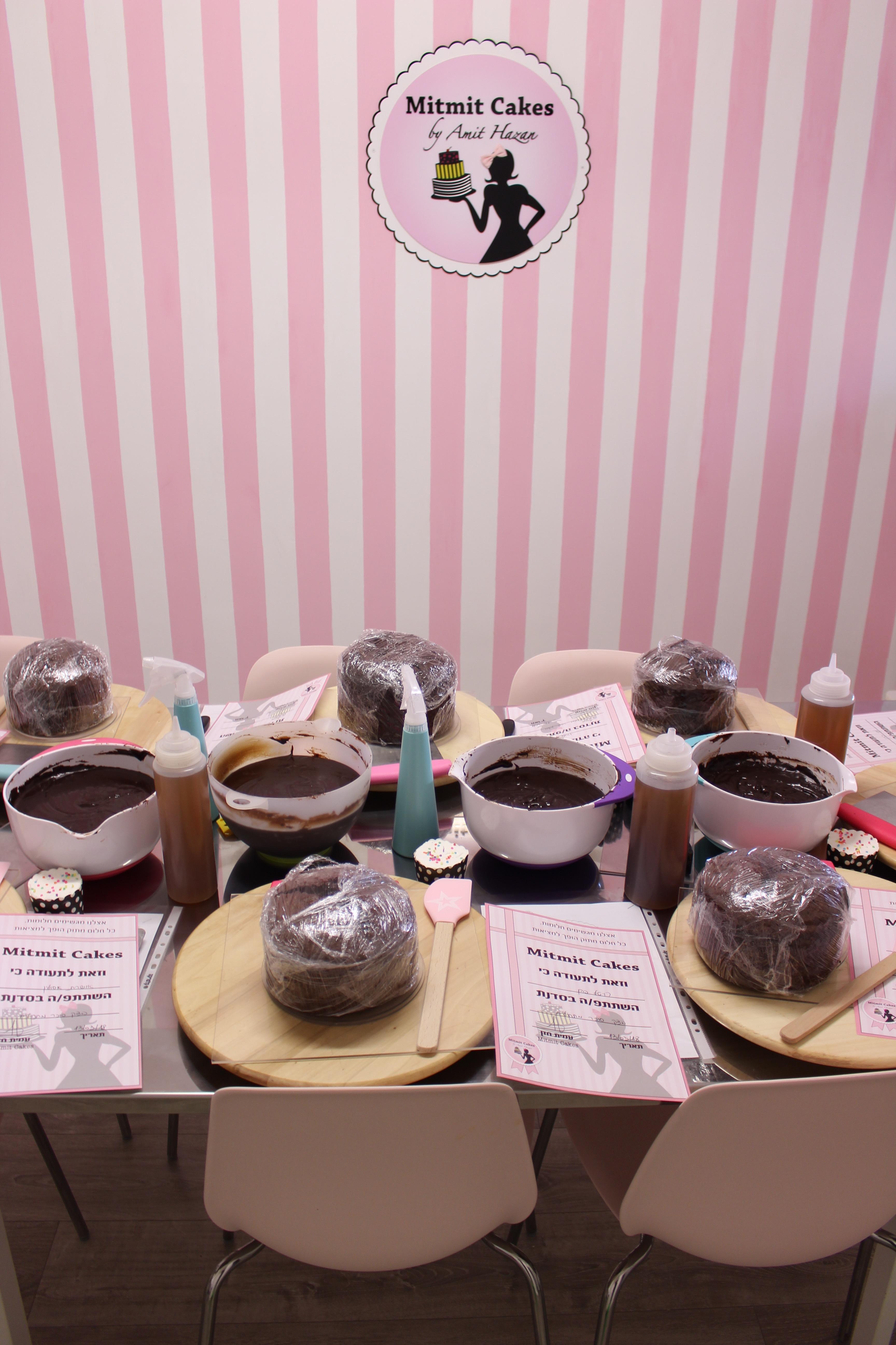 סדנה לעיצוב עוגות בצק סוכר