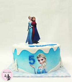 עוגה אנה ואלזה