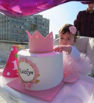 עוגת יום הולדת שנה לקיטלין הנסיכה