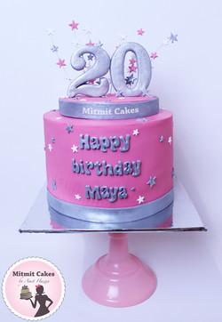 עוגה ליום הולדת 20