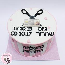 עוגת שחרור מספריים וחוגר