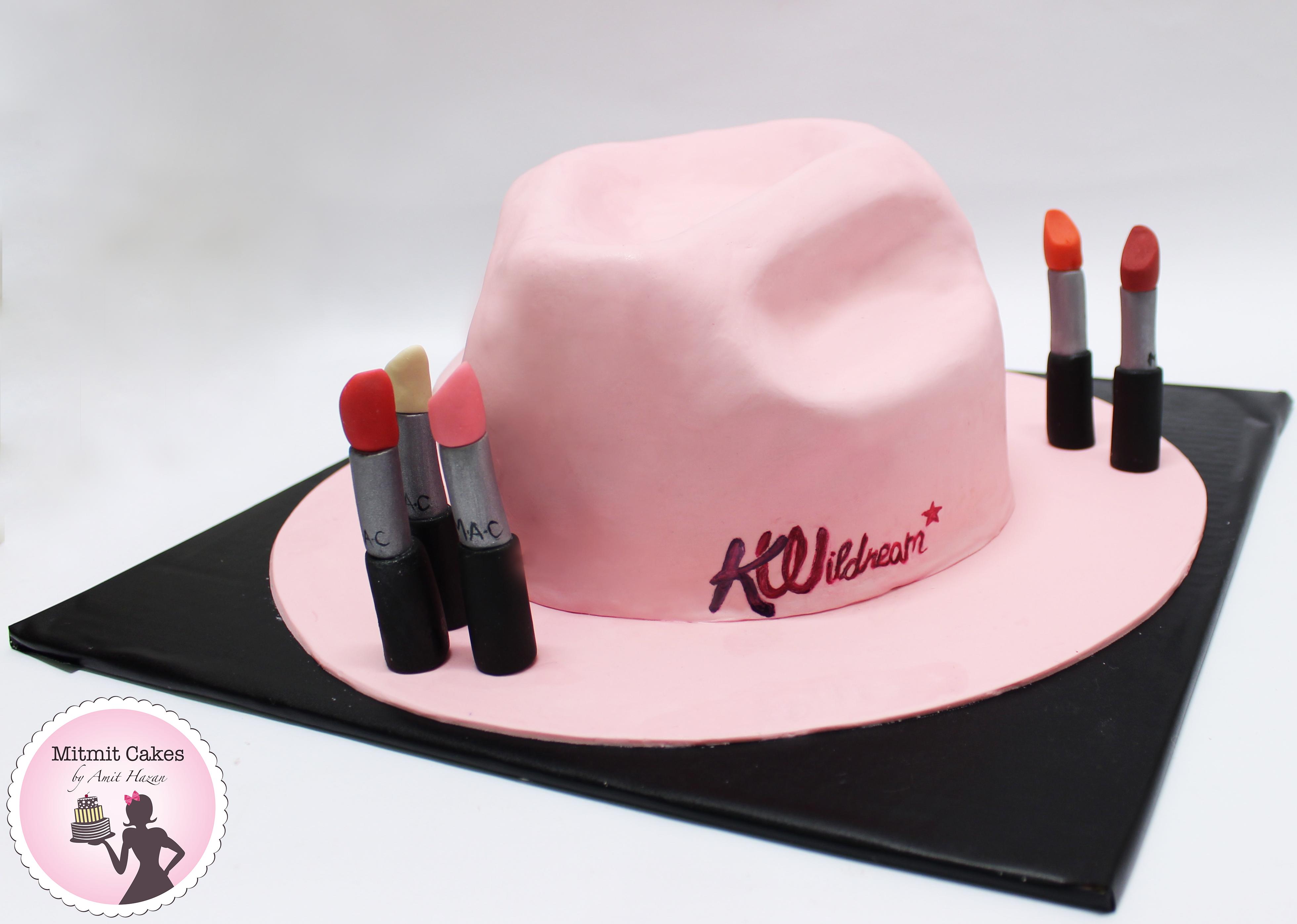 עוגת כובע עם אודמים