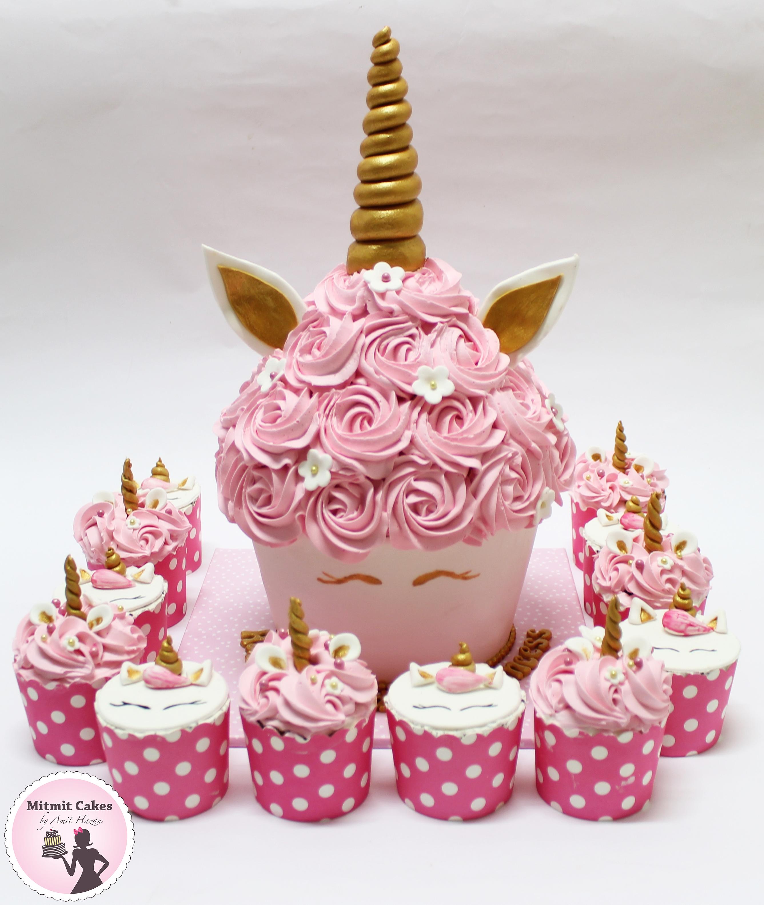 חד קרן עוגה וקאפקייקס
