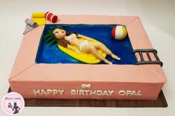 עוגה מסיבת בריכה
