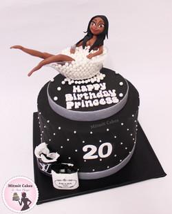 עוגה פיסול בובה אטיופית ליום הולדת