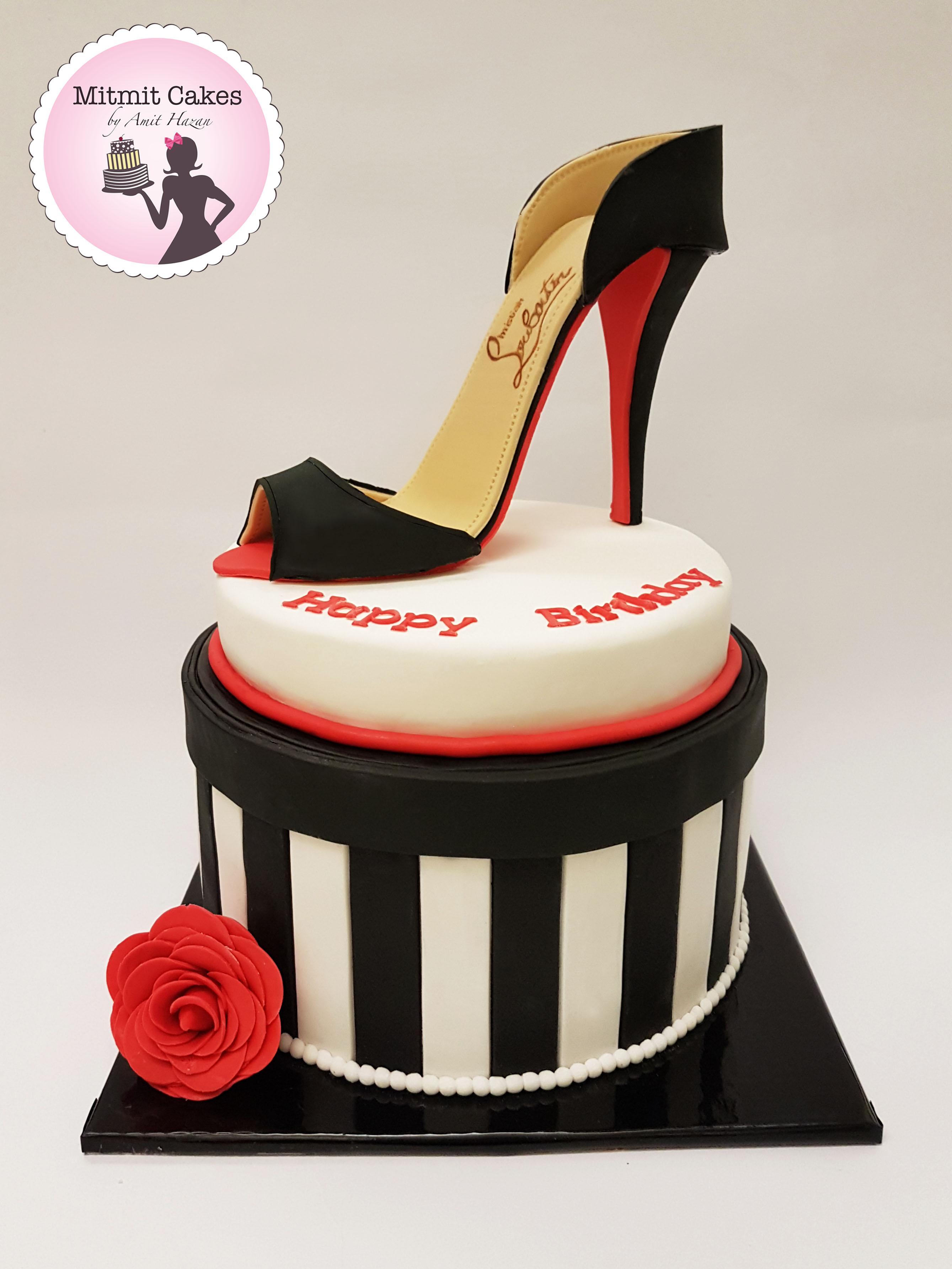עוגת נעל עקב Louboutin