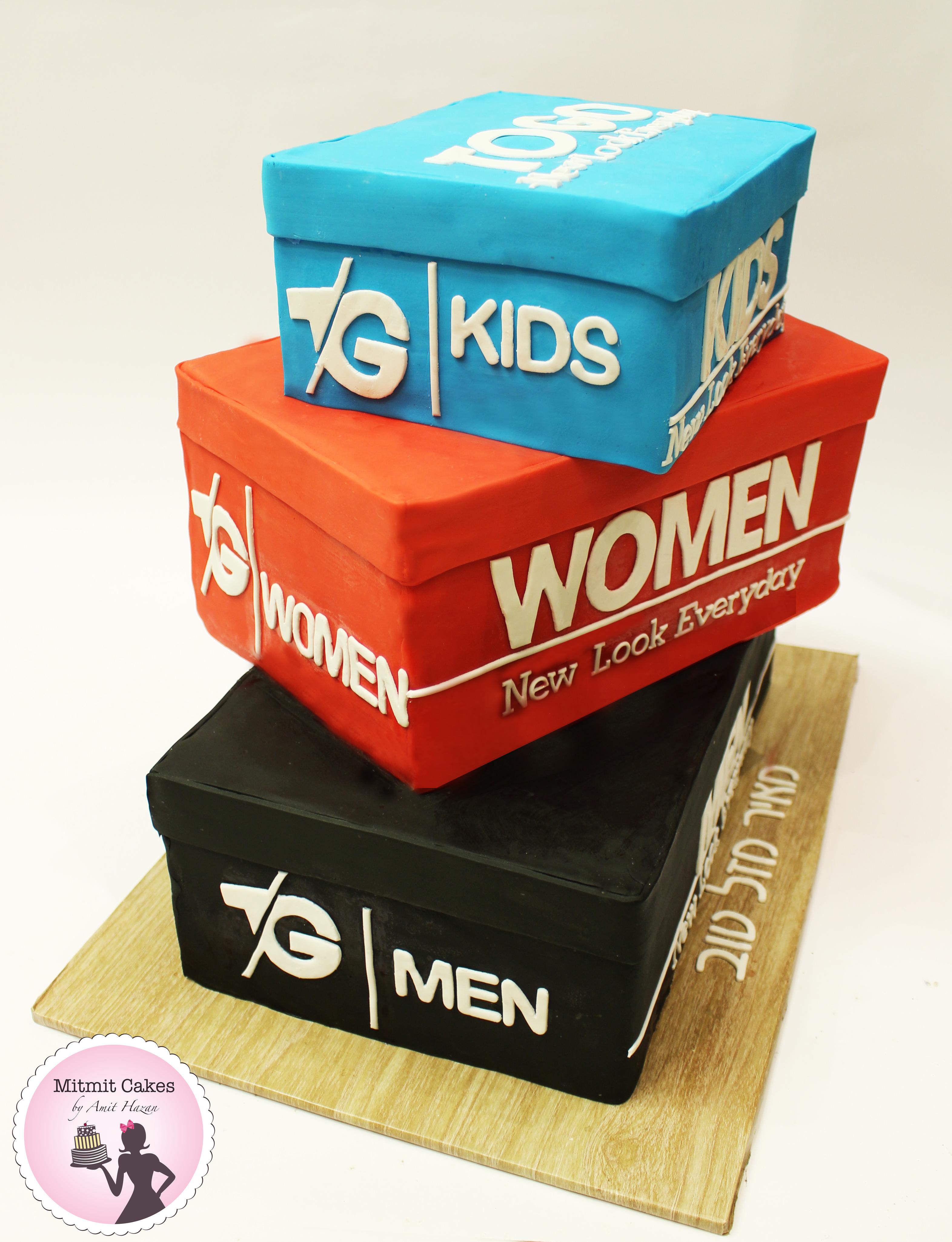 עוגת קופסאות נעליים TO GO