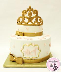 עוגת כתר ליום הולדת 50