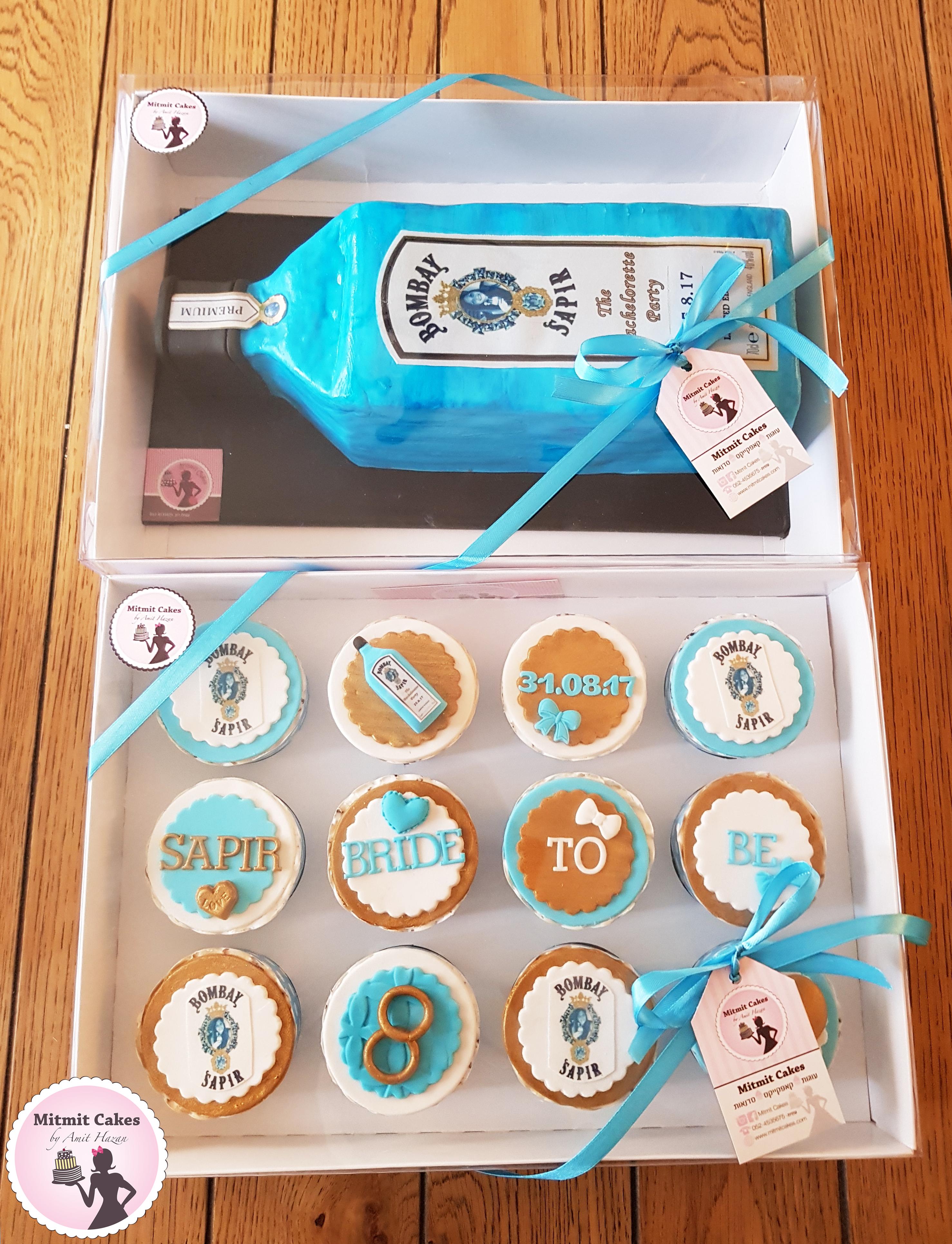 עוגה וקאפקייקס למסיבת רווקות
