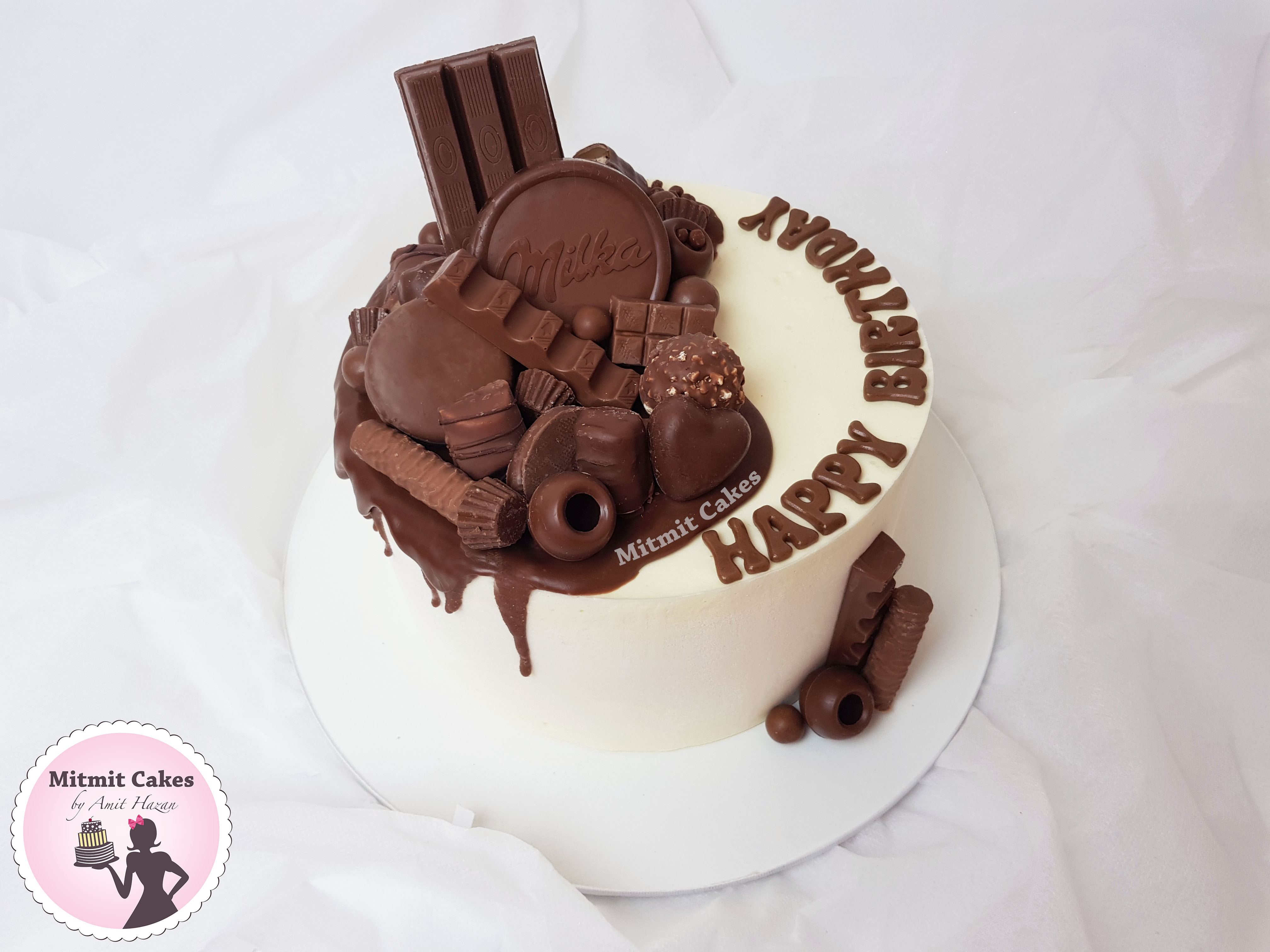 עוגת מוס שוקולד לבן וקינדר