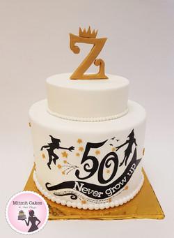 עוגה ליום הולדת 50