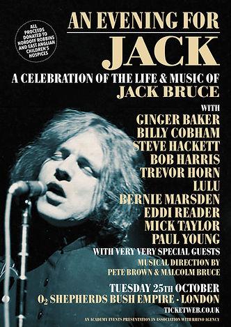 'An Evening For Jack' Final Lineup