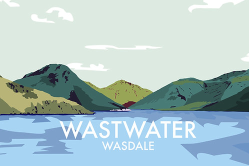 A4 Print Wastwater, Wasdale