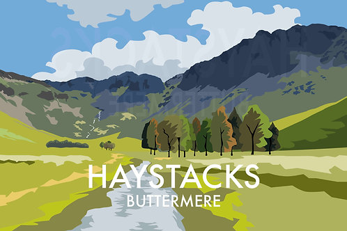 A4 Print Haystacks, Buttermere