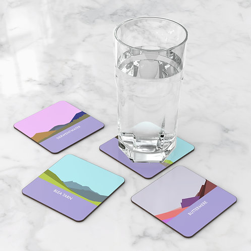 Set of 4 Waters of the Lakes Coasters