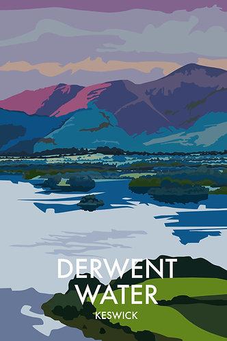 A4 Print Derwent Water, Keswick