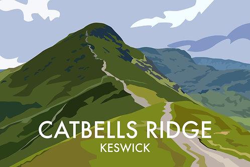 A4 Print Catbells Ridge