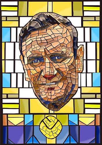 Don Revie Stained Glass