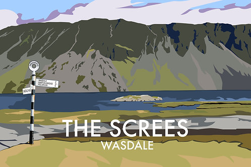 A4 Print The Screes, Wasdale