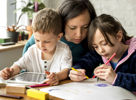 Keeping your kids happy, busy and learning at home.