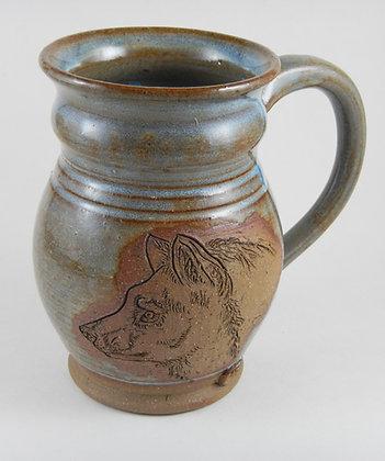 Carved Mug Wolf