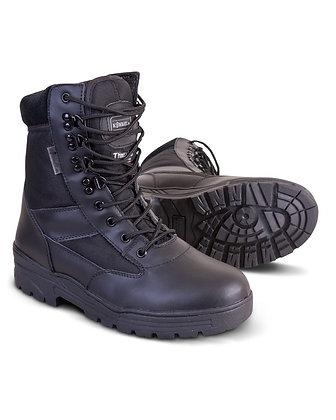 Patrol Boot - Half Leather/Half Nylon - Black