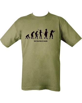 Evolution T-shirt - Olive Green