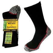 MENS COMFORT BAMBOO SOLE WORK SOCKS