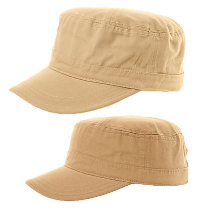 ADULTS CHINO TWIRL CADET CAP WITH ADJUSTABLE VELCRO