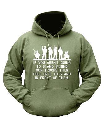 Behind Troops HOODIE - Olive Green