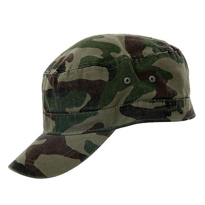 GREEN CAMO FITTED CADET CAP