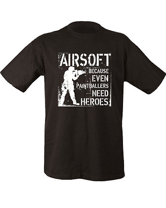 Paintballers Need Heroes T-shirt - Black